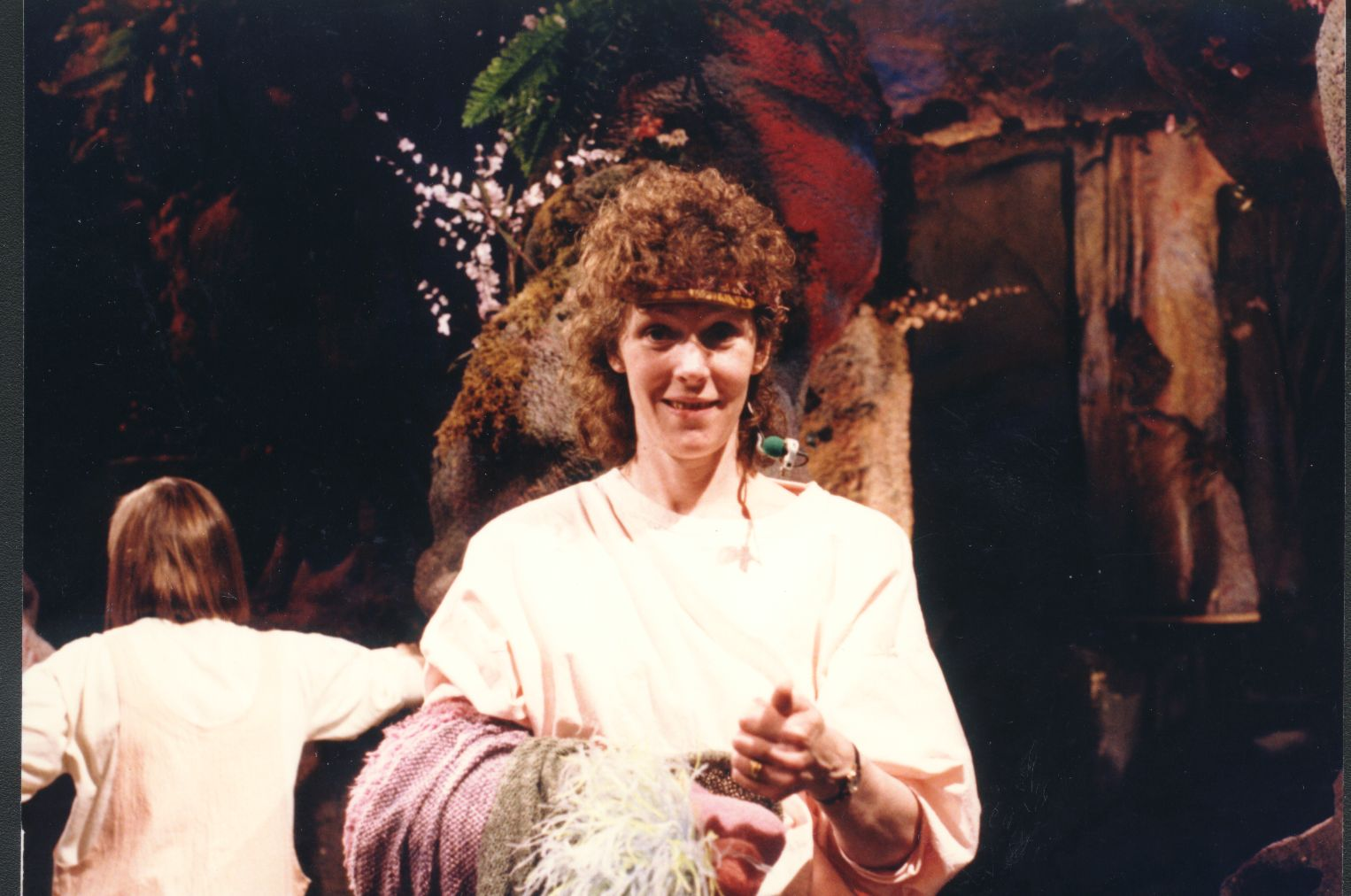 "Kathryn Mullen on the set of ""Fraggle Rock"""